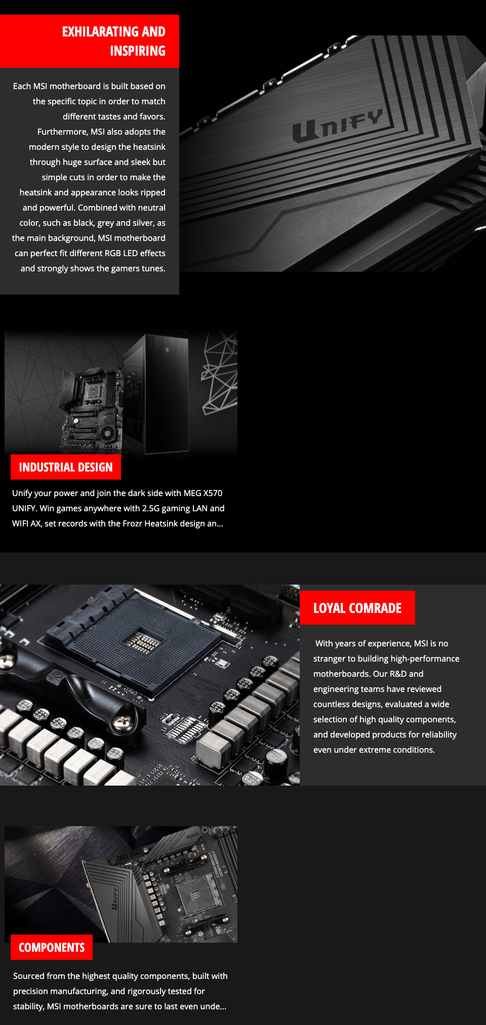 MSI MEG X570 Unify Motherboard features