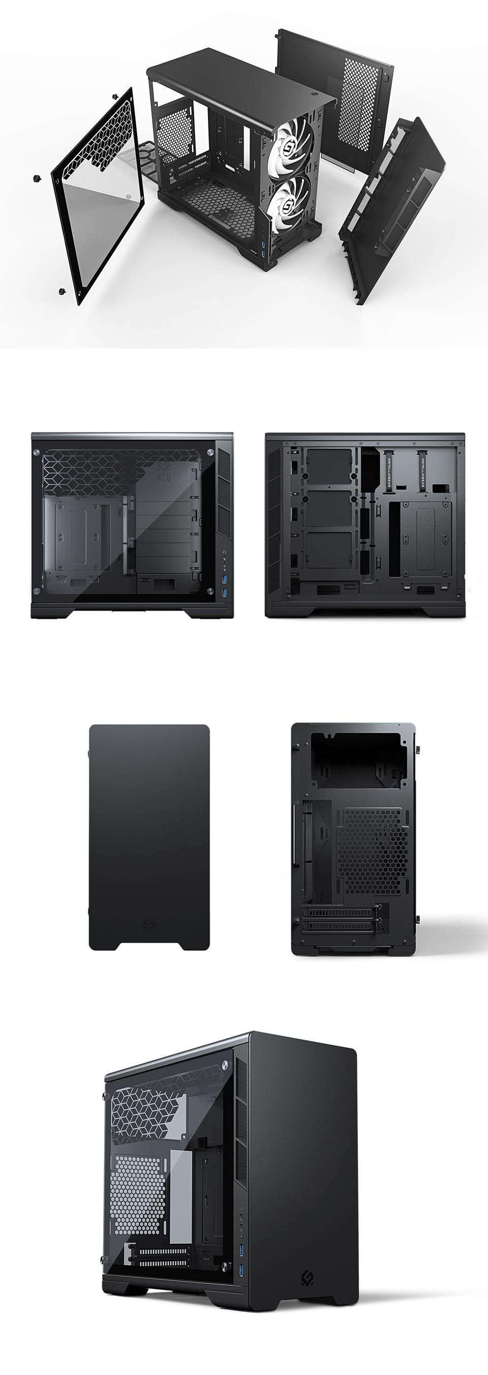 MetallicGear Neo Mini Case Black v2 product
