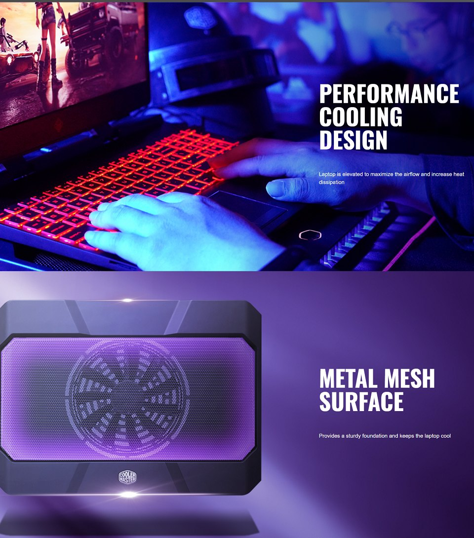 Cooler Master Notepal X150R Laptop Cooler features