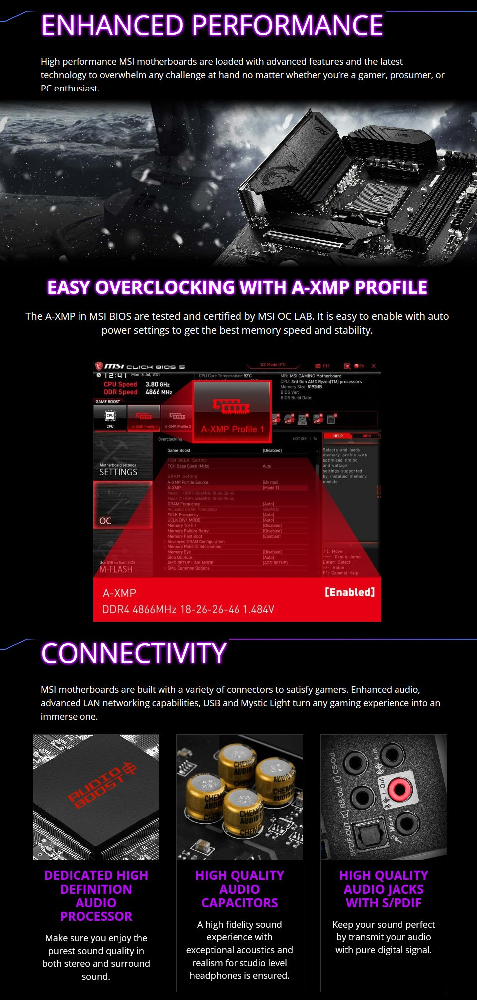 MSI MPG B550 Gaming Plus Motherboard features 3