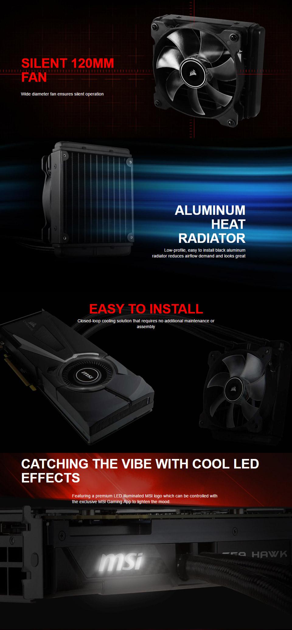 MSI GeForce GTX 1080 Sea Hawk X 8GB [MSI-GTX1080-SEA-HAWK-X] : PC