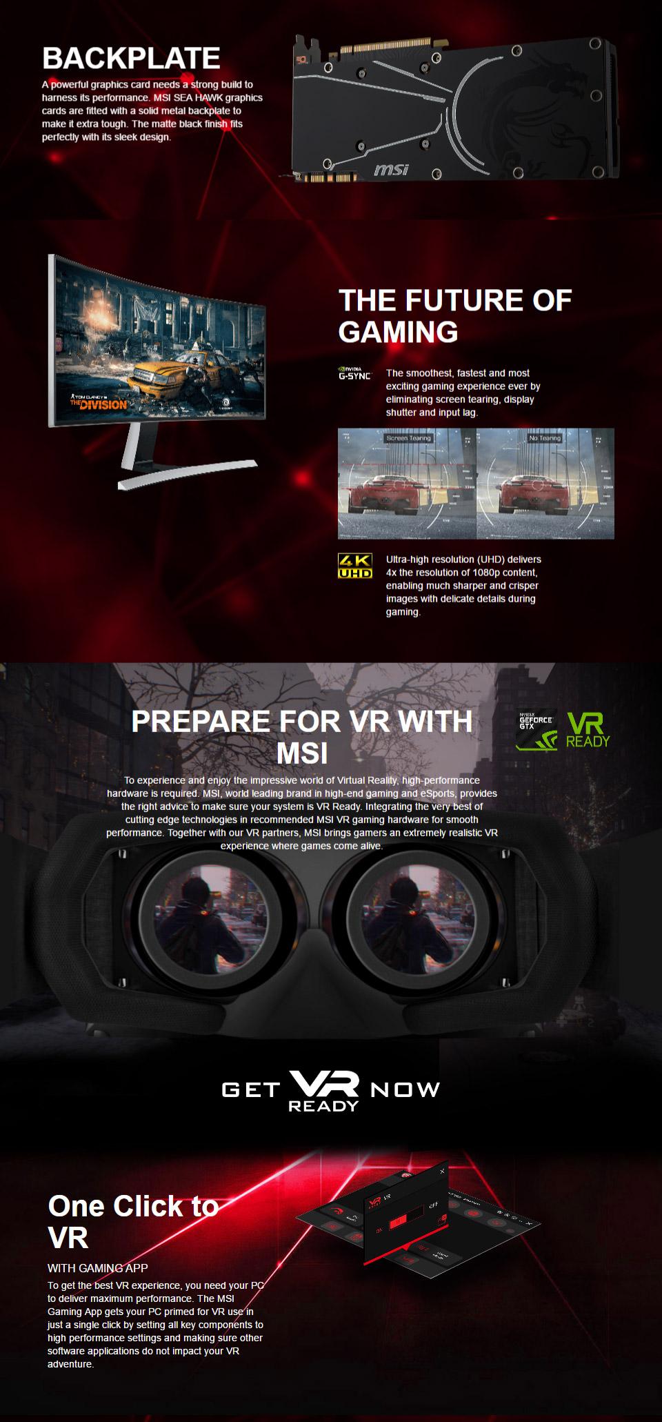 MSI GeForce GTX 1070 Sea Hawk X 8GB [MSI- GTX1070-SEA-HAWK-X] : PC