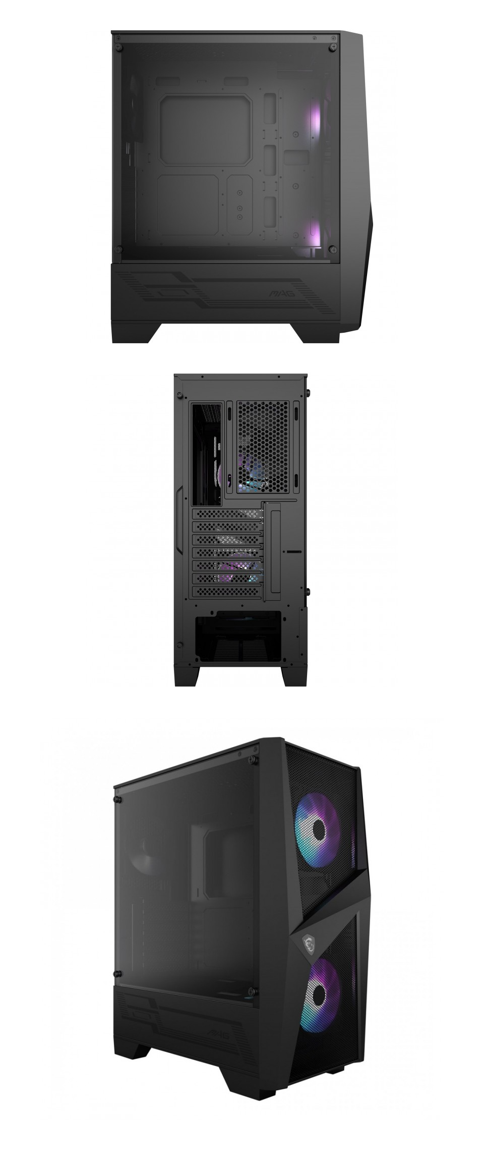 MSI Forge 100R RGB Tempered Glass Case product