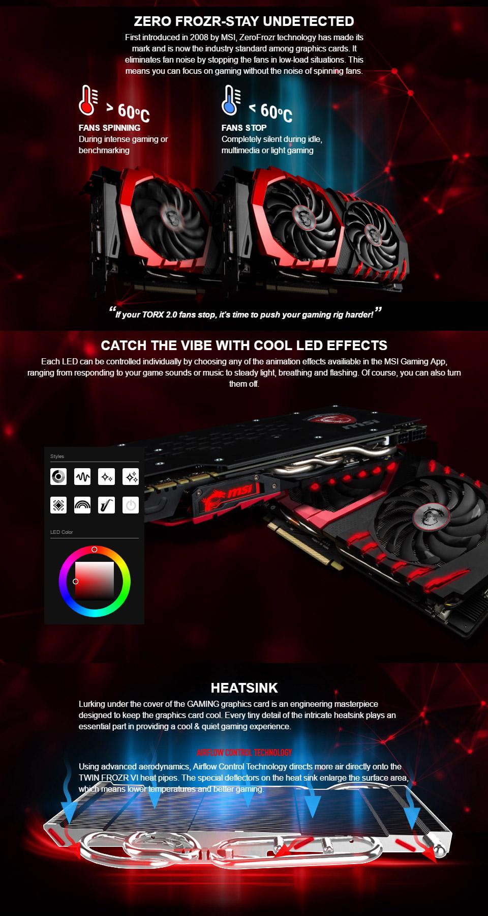 MSI GeForce GTX 1060 Gaming X 6GB [GTX1060-GAMING-X-6G] : PC Case Gear