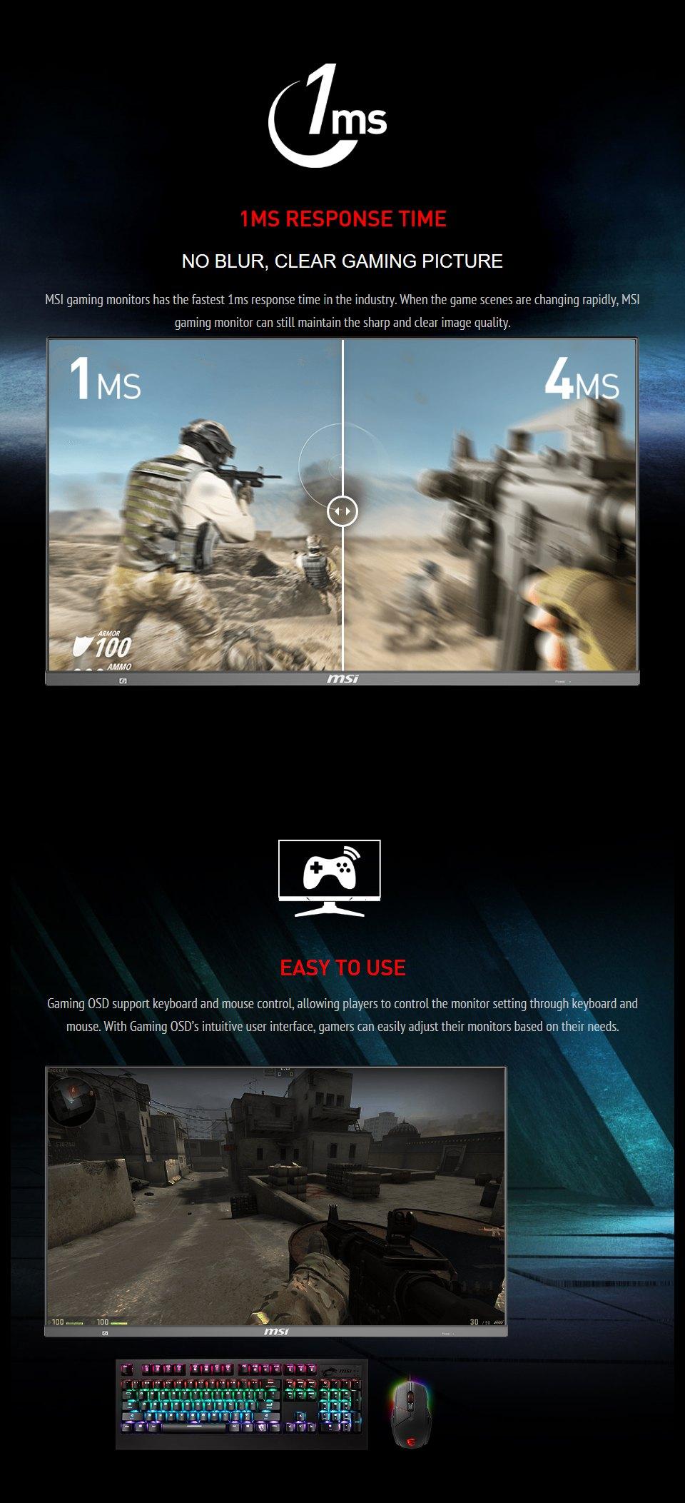 MSI Optix MAG272QP QHD165Hz HDR 27in VA Gaming Monitor features 3