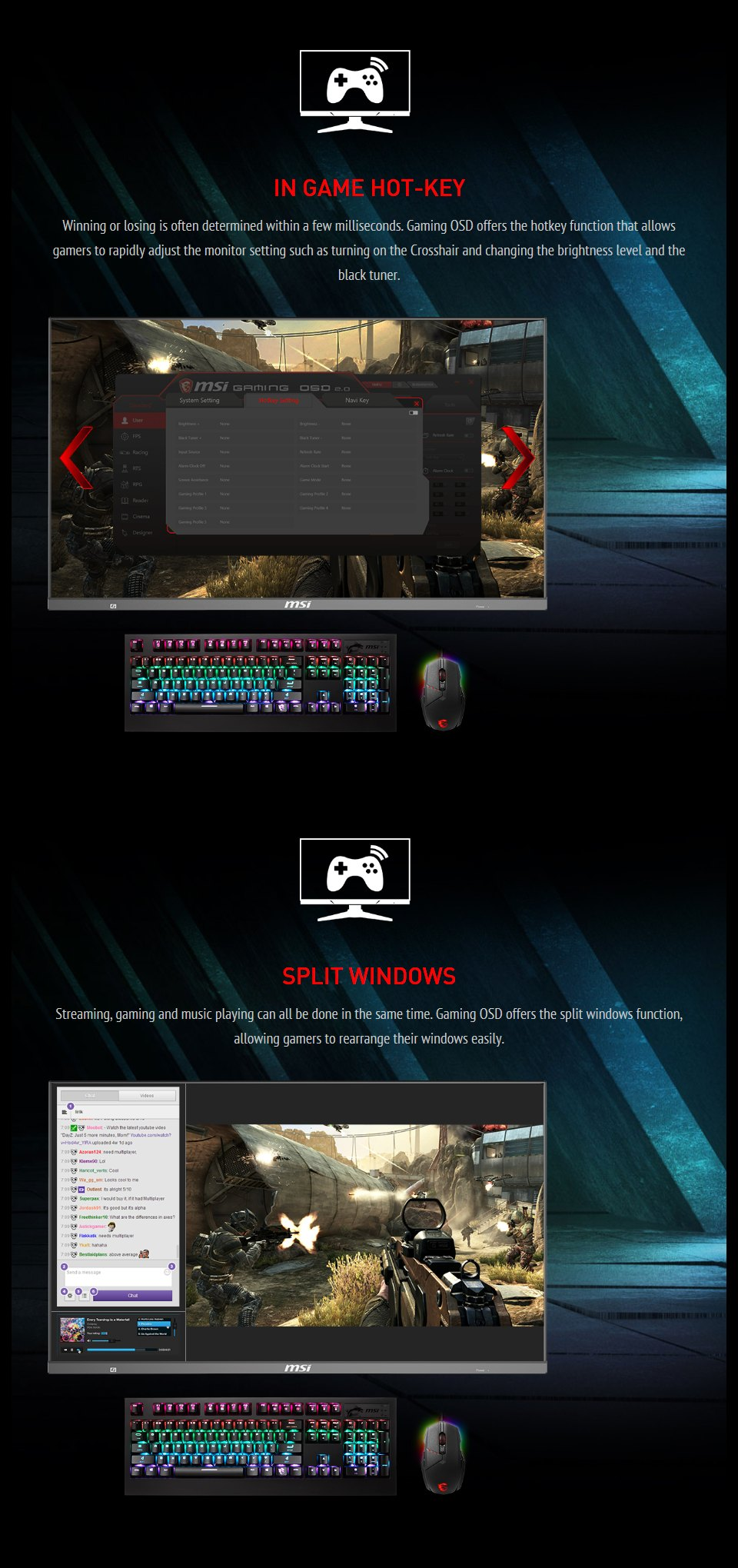 MSI Optix MAG272QP QHD165Hz HDR 27in VA Gaming Monitor features 4