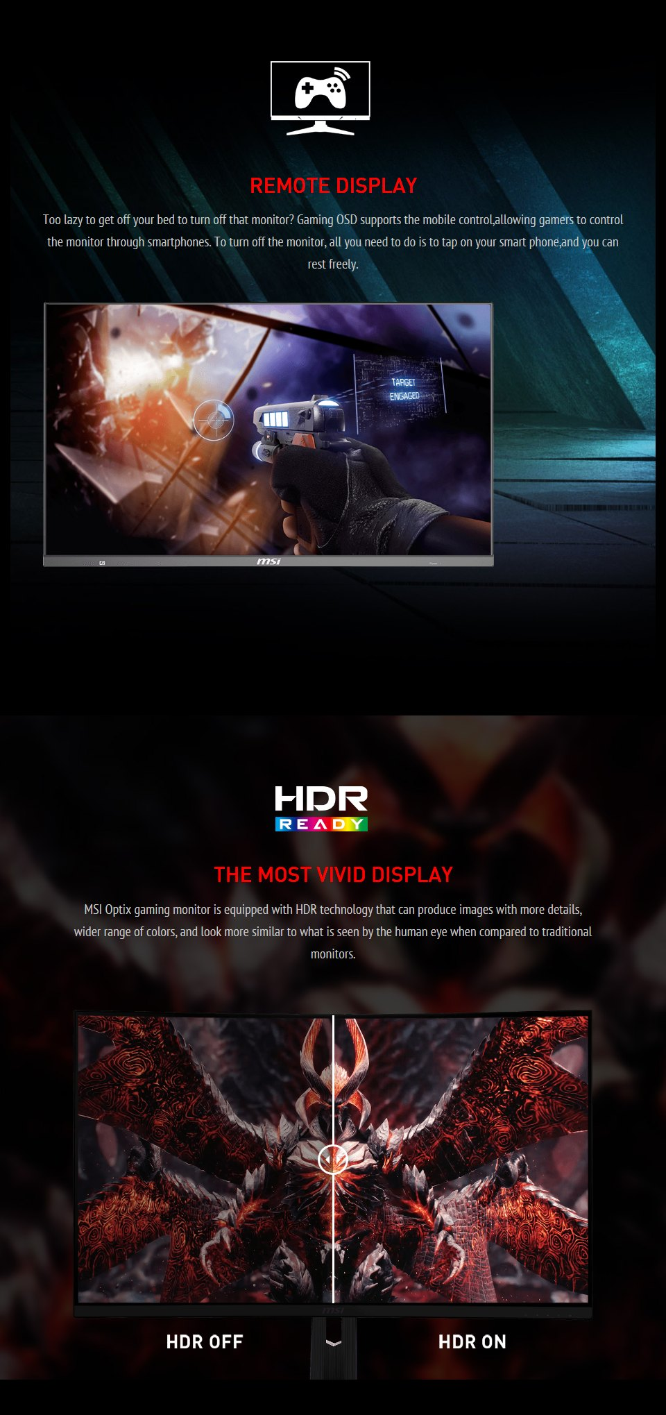 MSI Optix MAG272QP QHD165Hz HDR 27in VA Gaming Monitor features 5