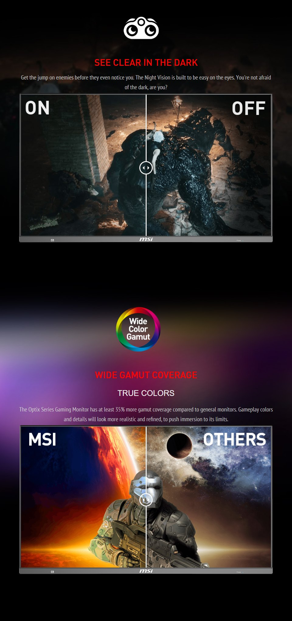 MSI Optix MAG272QP QHD165Hz HDR 27in VA Gaming Monitor features 6