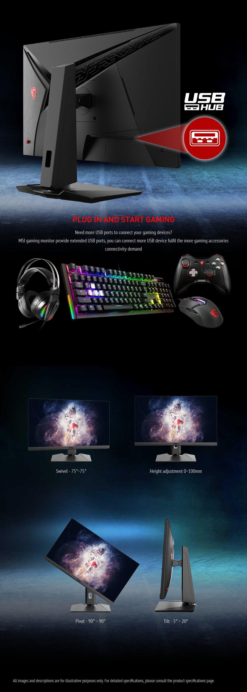 MSI Optix MAG272QP QHD165Hz HDR 27in VA Gaming Monitor features 8
