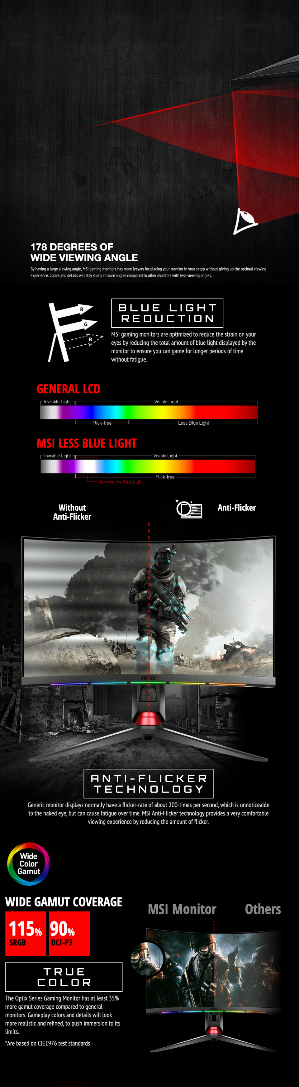 MSI Optix MPG27CQ2 QHD 144Hz Curved RGB 27in VA Gaming Monitor features 4