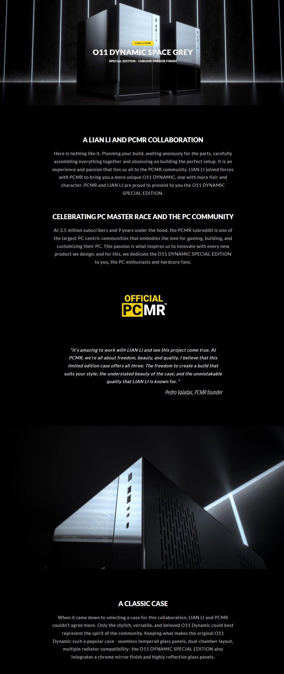 Lian Li PC-O11 Dynamic XL PCMR Limited Edition Case features