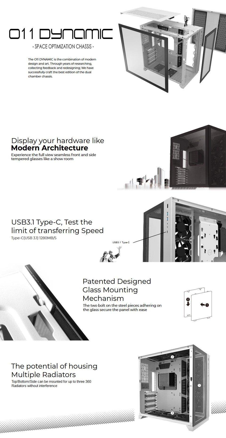 Lian Li PC-O11 Dynamic XL PCMR Limited Edition Case features 3