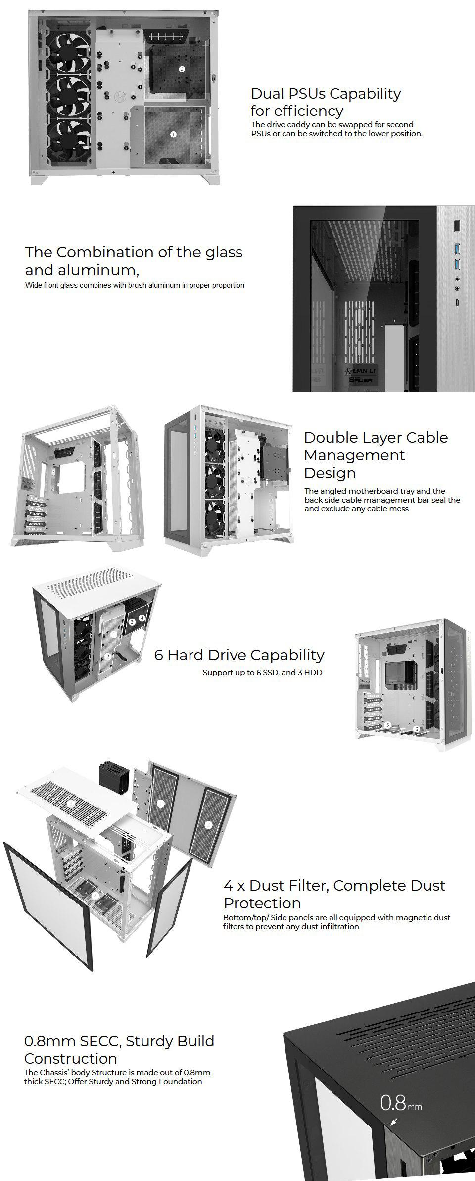 Lian Li PC-O11 Dynamic XL PCMR Limited Edition Case features 4