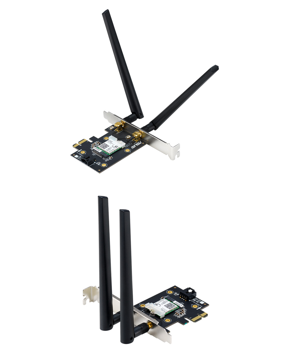 ASUS PCE-AX3000 WiFi 6 AX PCIe Wireless and Bluetooth Adapter product