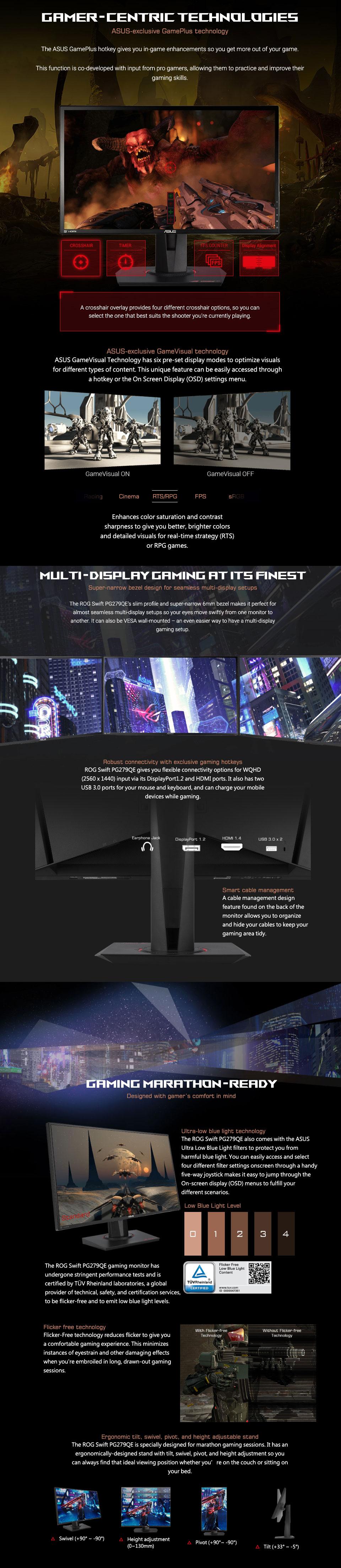 ASUS PG279QE QHD 165Hz G-Sync IPS Monitor