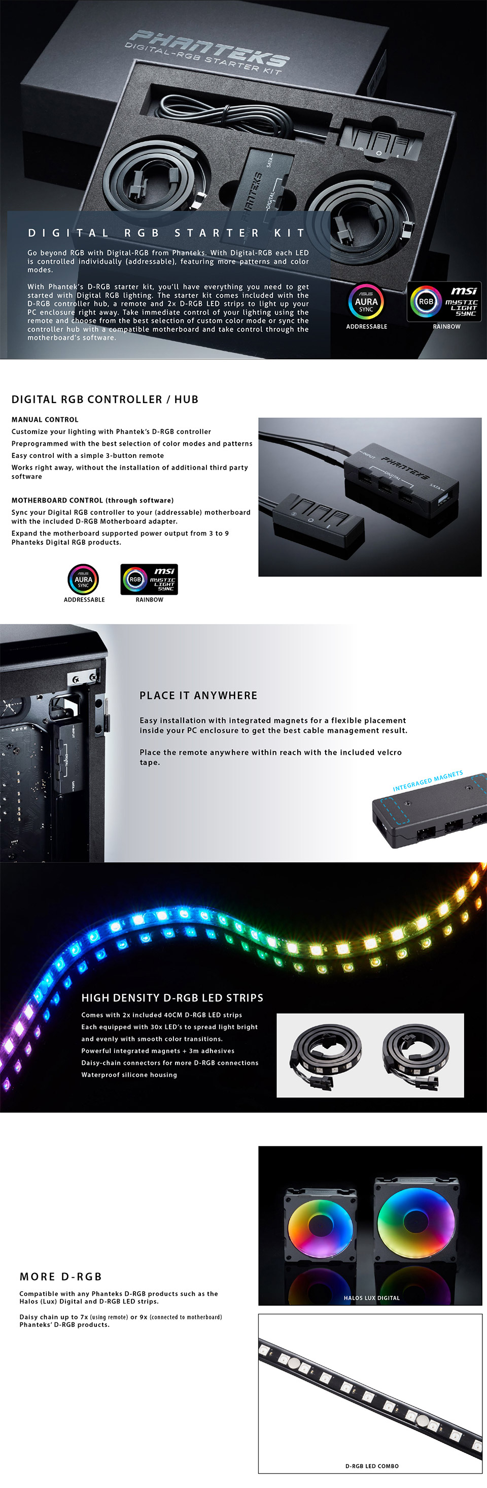 Phanteks Digital RGB LED Starter Kit