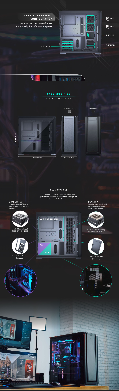 Phanteks Enthoo 719 D-RGB TG Full Tower Case Satin Black features 2