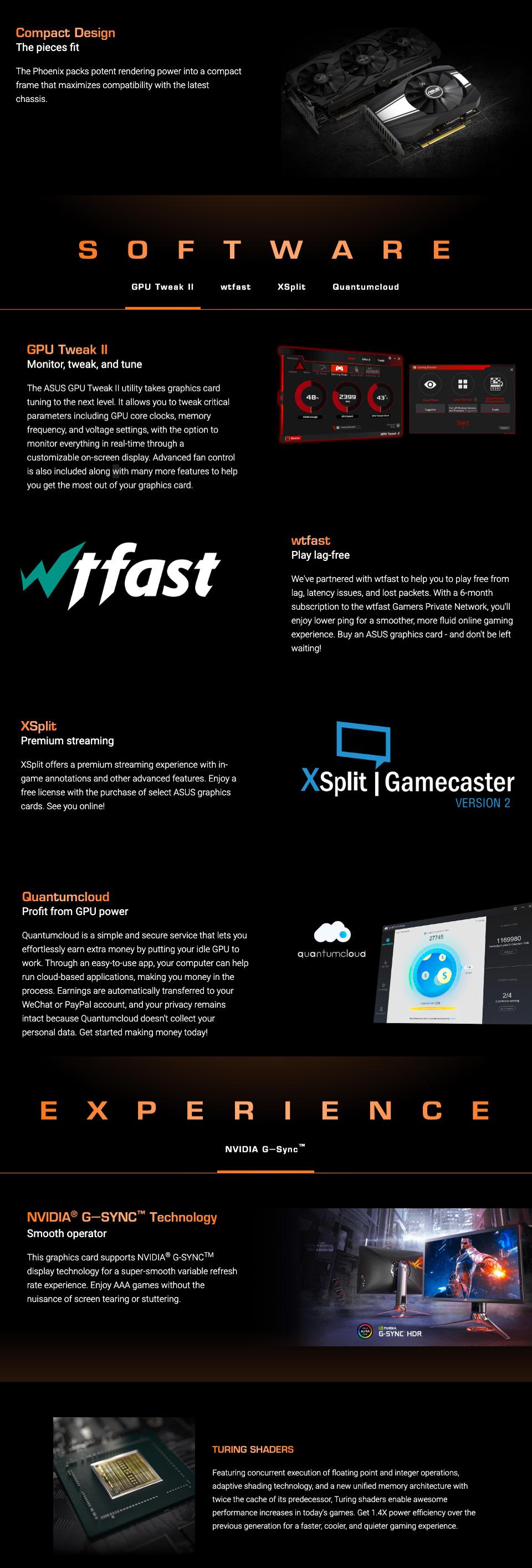 ASUS GeForce GTX 1660 Super Phoenix OC 6GB features 2