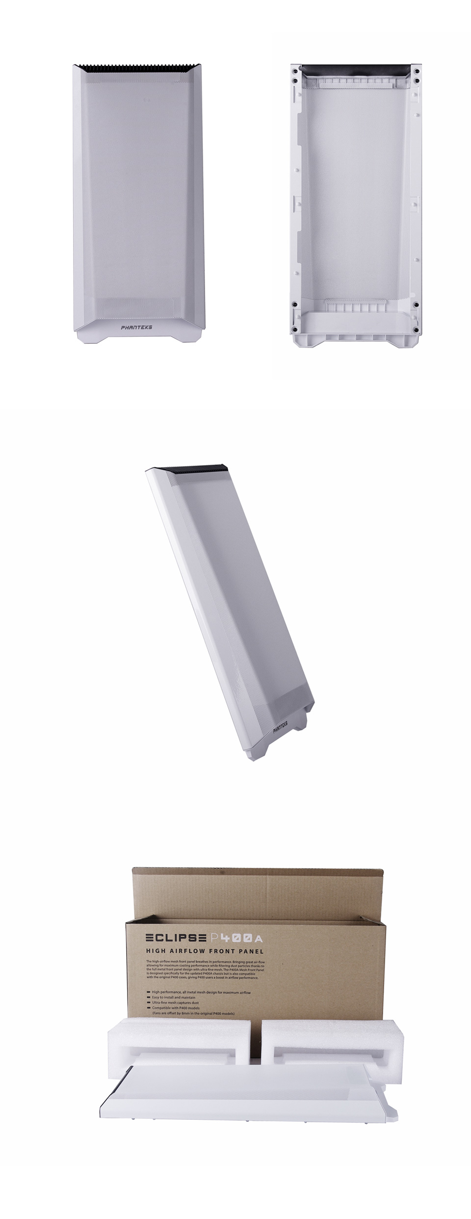 Phanteks Eclipse P400 Air Metal Front Panel White product