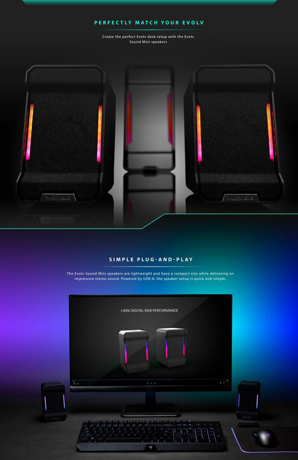 Phanteks Evolv Sound Mini RGB Speakers features