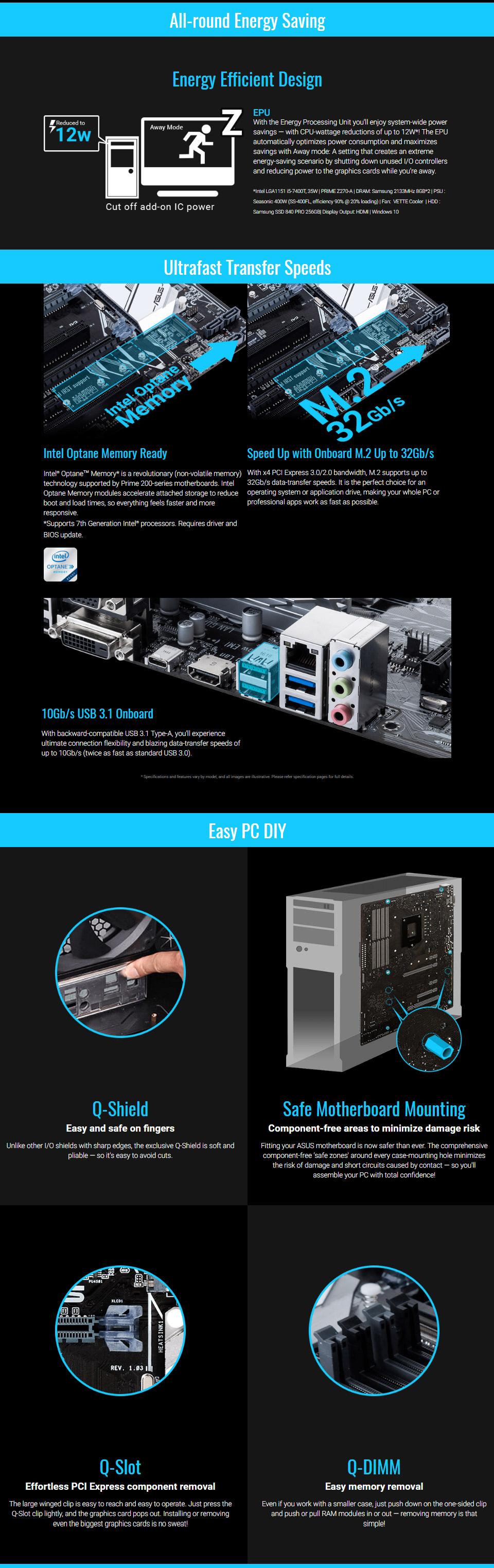 ASUS Prime H270-PRO Motherboard [PRIME-H270-PRO] : PC Case Gear