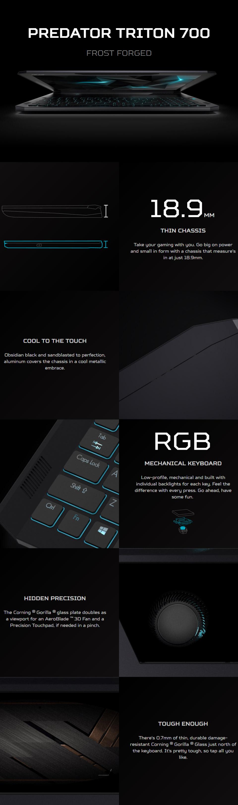 Acer Predator Triton 700 156in Gaming Notebook Pt715 51 70q2