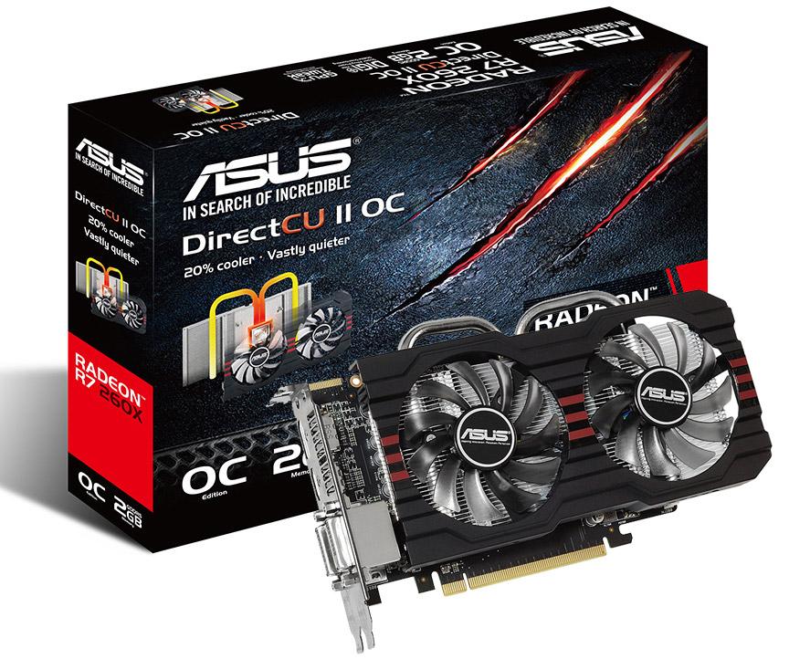 ASUS Radeon R7 260X DirectCU II OC 2GB [R7260X-DC2OC-2GD5] : PC Case