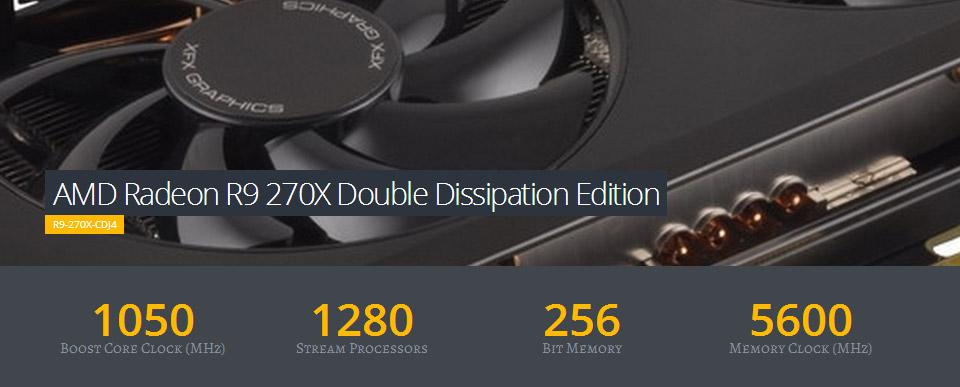 XFX Radeon R9 270X Double Dissipation 2GB [R9-270X-CDJ4