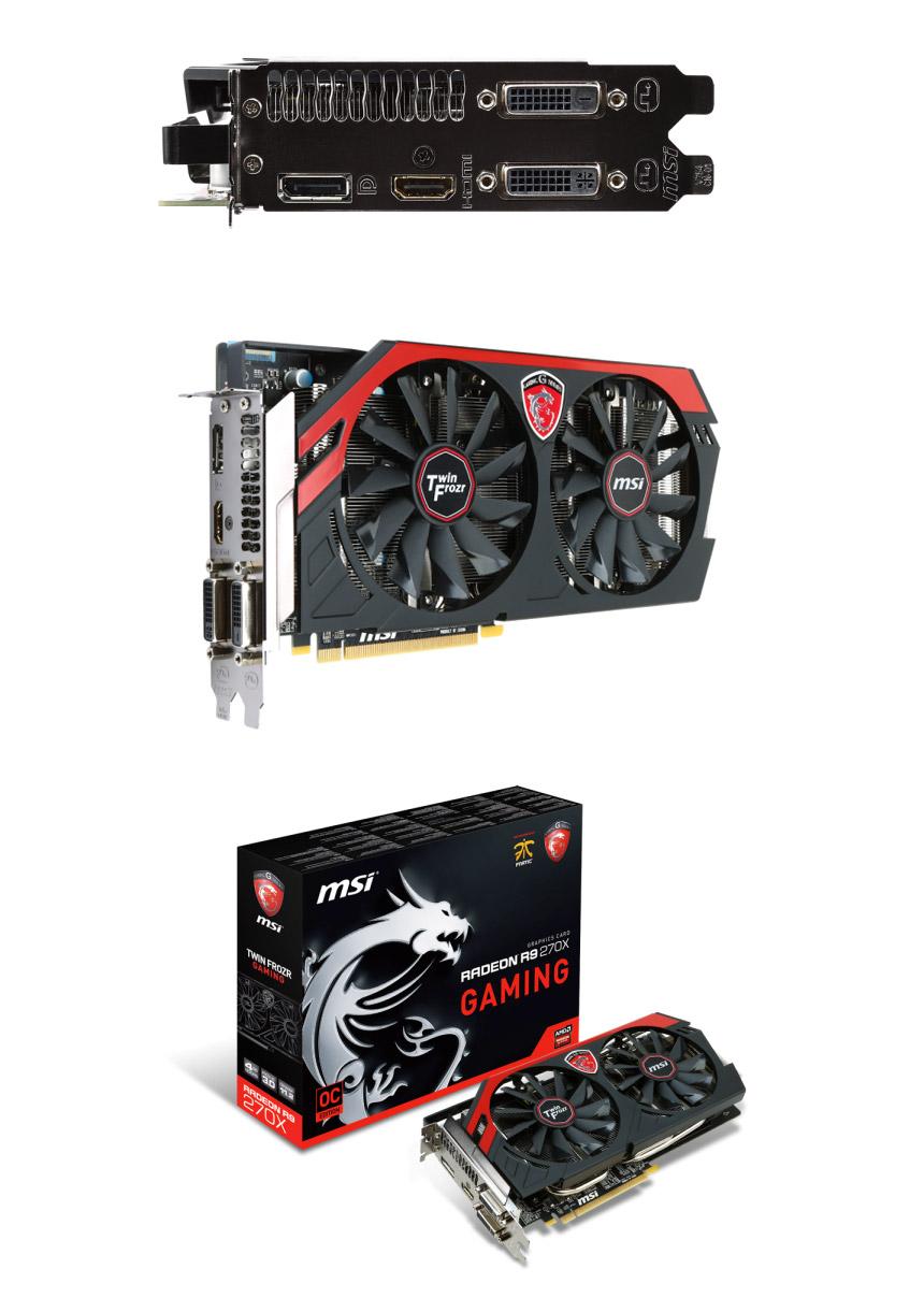 MSI Radeon R9 270X Gaming 4GB [R9270X-GAMING-4G] : PC Case Gear