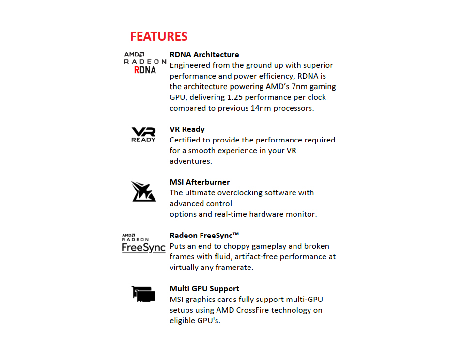 MSI Radeon RX 5700 XT 8GB
