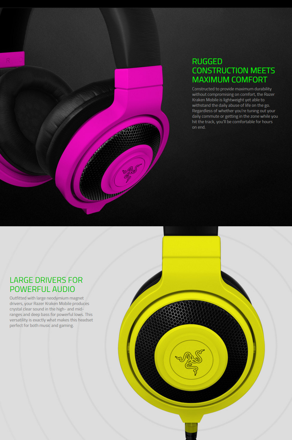 Razer Kraken Mobile Gaming Headset Purple [RAZ913P] : PC