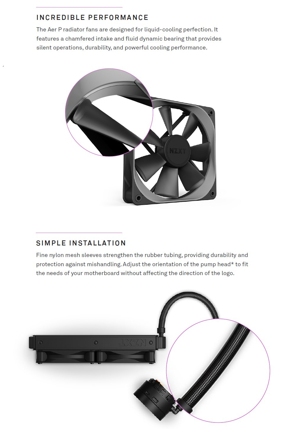 NZXT Kraken X73 360mm AIO Liquid CPU Cooler features 3