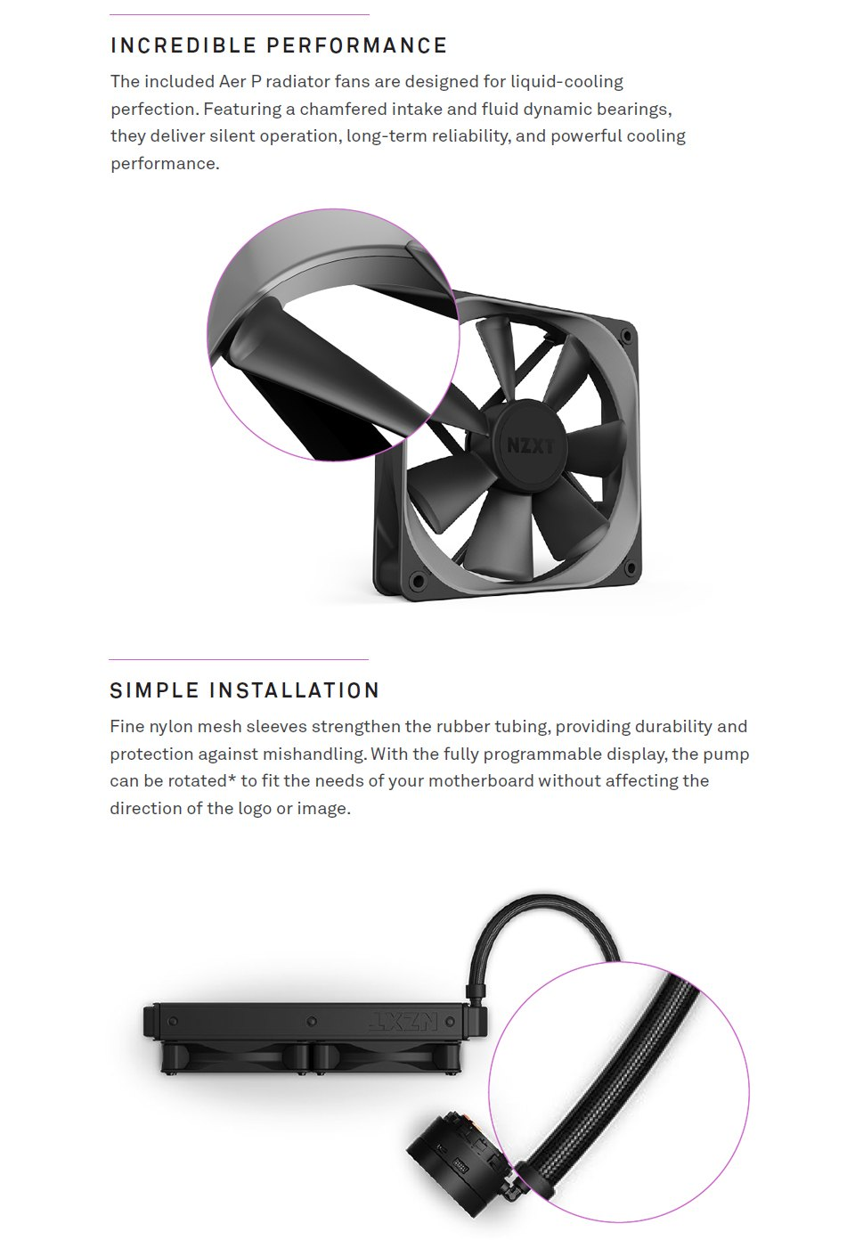 NZXT Kraken Z73 360mm AIO Liquid CPU Cooler features 3