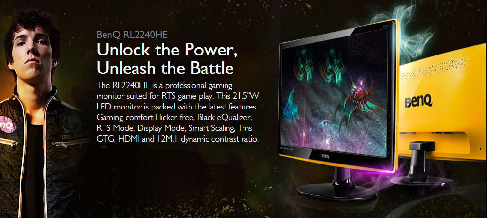 BenQ RL2240HE Limited Edition 21 5in LED Gaming Monitor