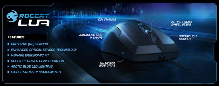 7968467c6e9 Roccat Lua Tri Button Gaming Mouse. On sale! (normally $39) The Roccat Lua's  advanced R2 Pro Optic sensor delivers your choice of seven DPI settings –  250, ...
