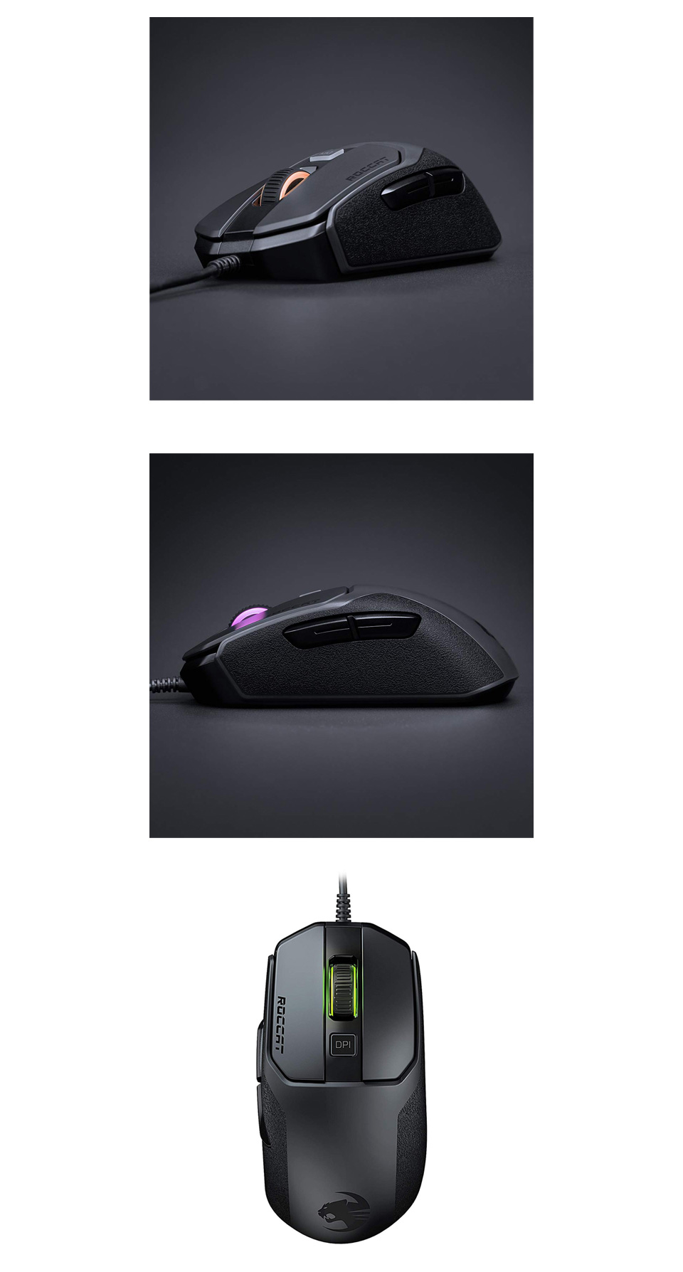 Roccat Kain 100 AIMO RGB Gaming Mouse Black product