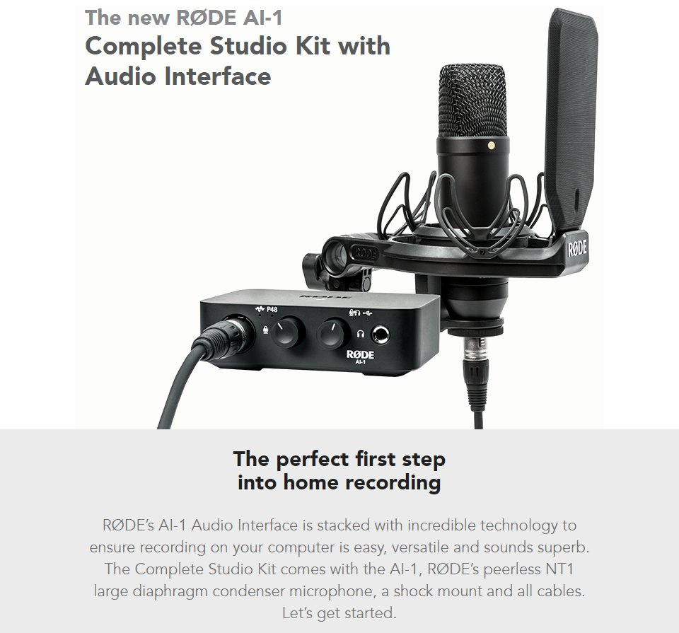 Rode AI-1 USB Audio Interface features