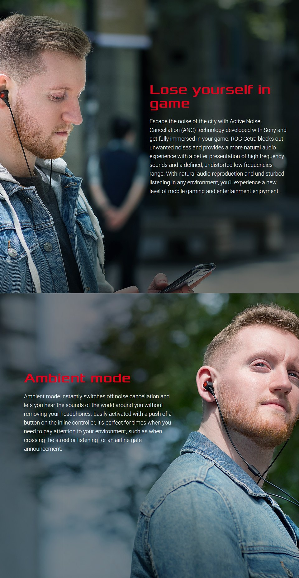 ASUS ROG Cetra In-Ear USB-C Headphones with ANC features 2