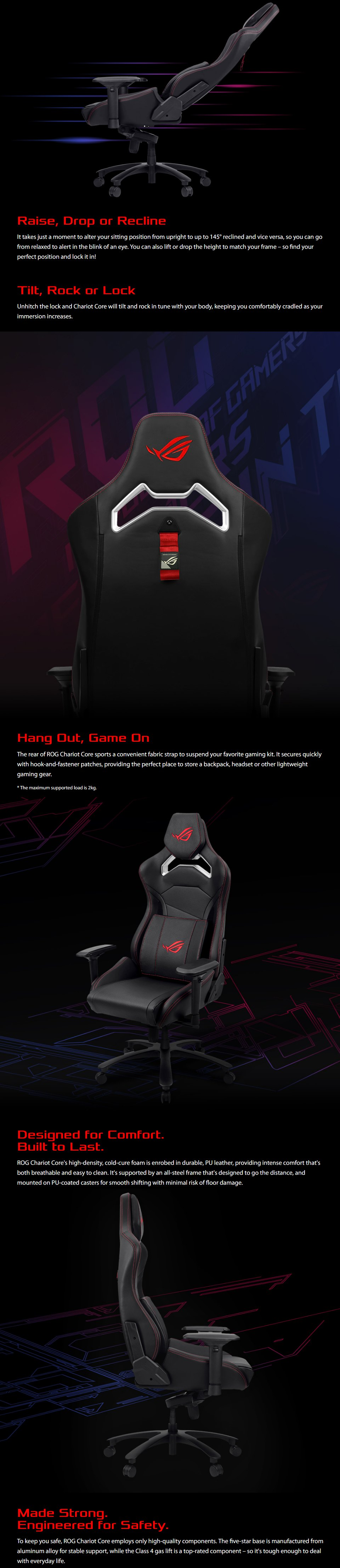 ASUS ROG Chariot Core Gaming Chair features 2