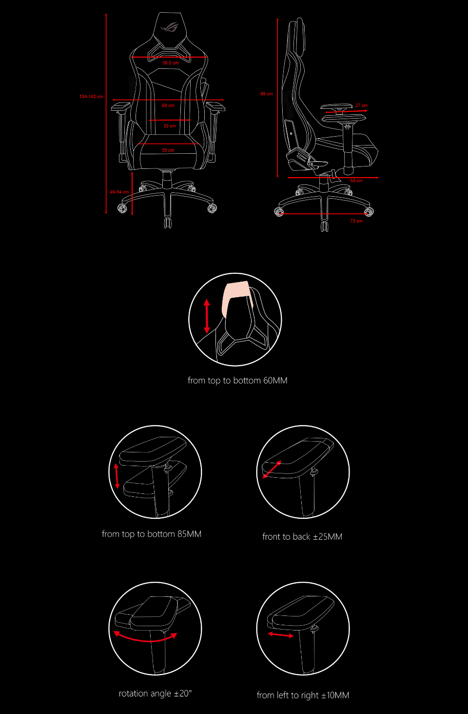 ASUS ROG Chariot Core Gaming Chair features 3