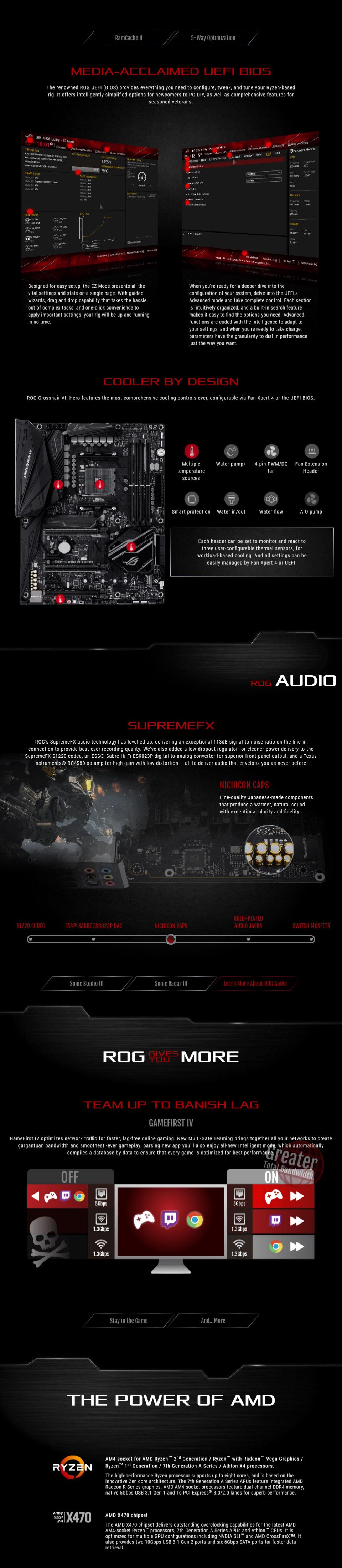 ASUS ROG Crosshair VII Hero Motherboard with Wi-Fi [ROG