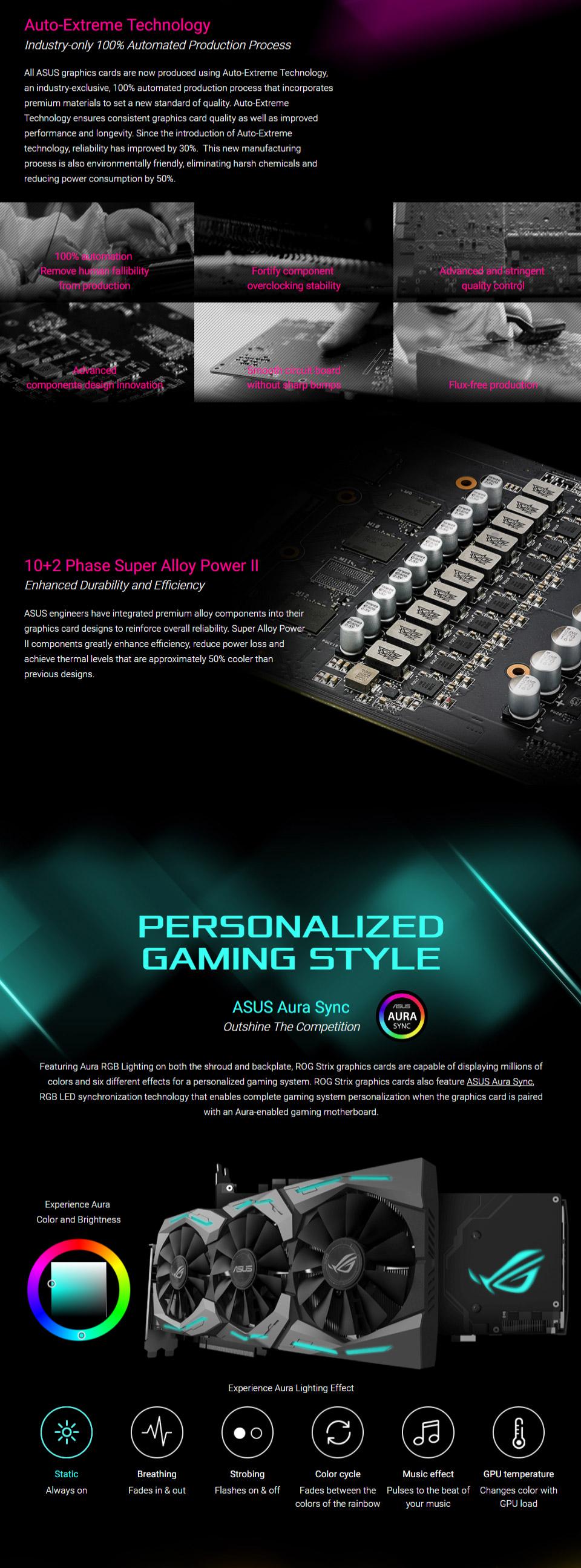 ASUS ROG Strix GeForce GTX 1080 Ti 11GB [ROG-STRIX-GTX1080TI-11G