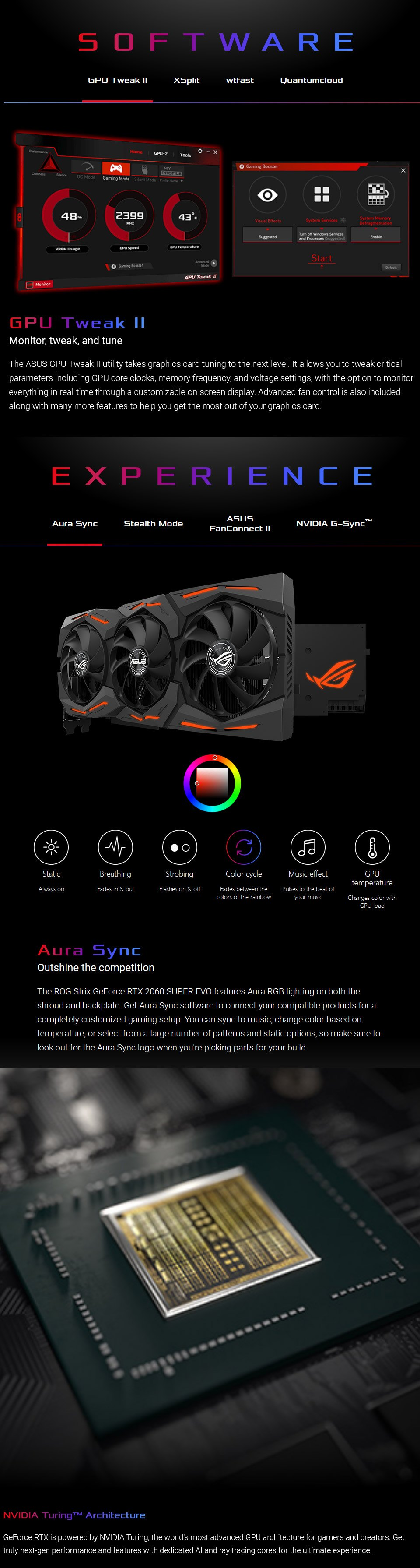 ASUS ROG Strix GeForce RTX 2060 Super EVO OC 8GB features 2