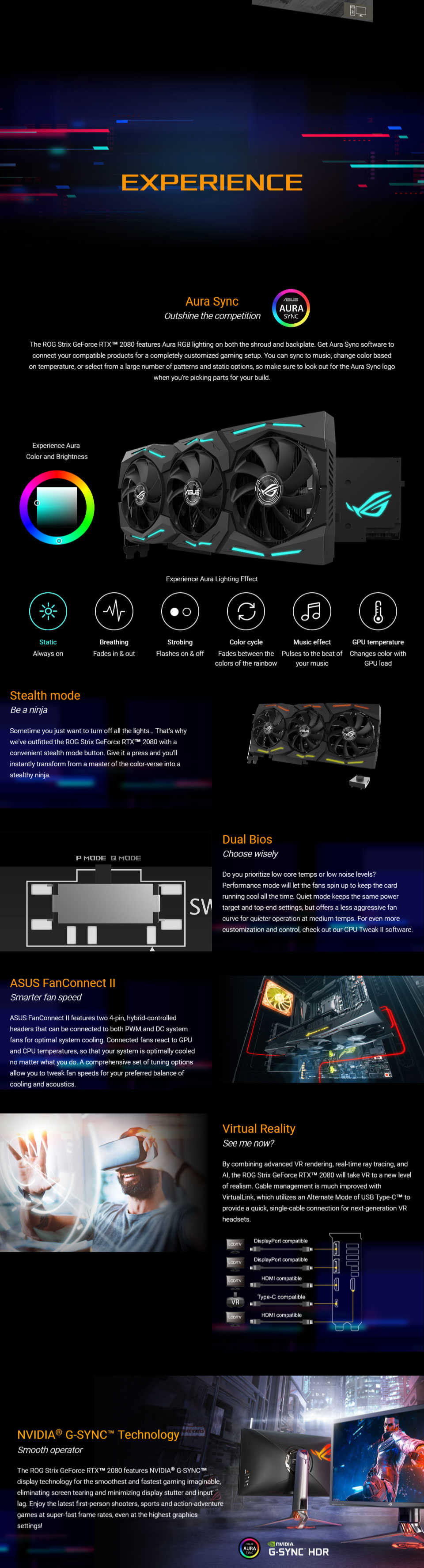 Details about ASUS ROG-STRIX-RTX2080-8G-GAMING GDDR6 8GB Graphics Card