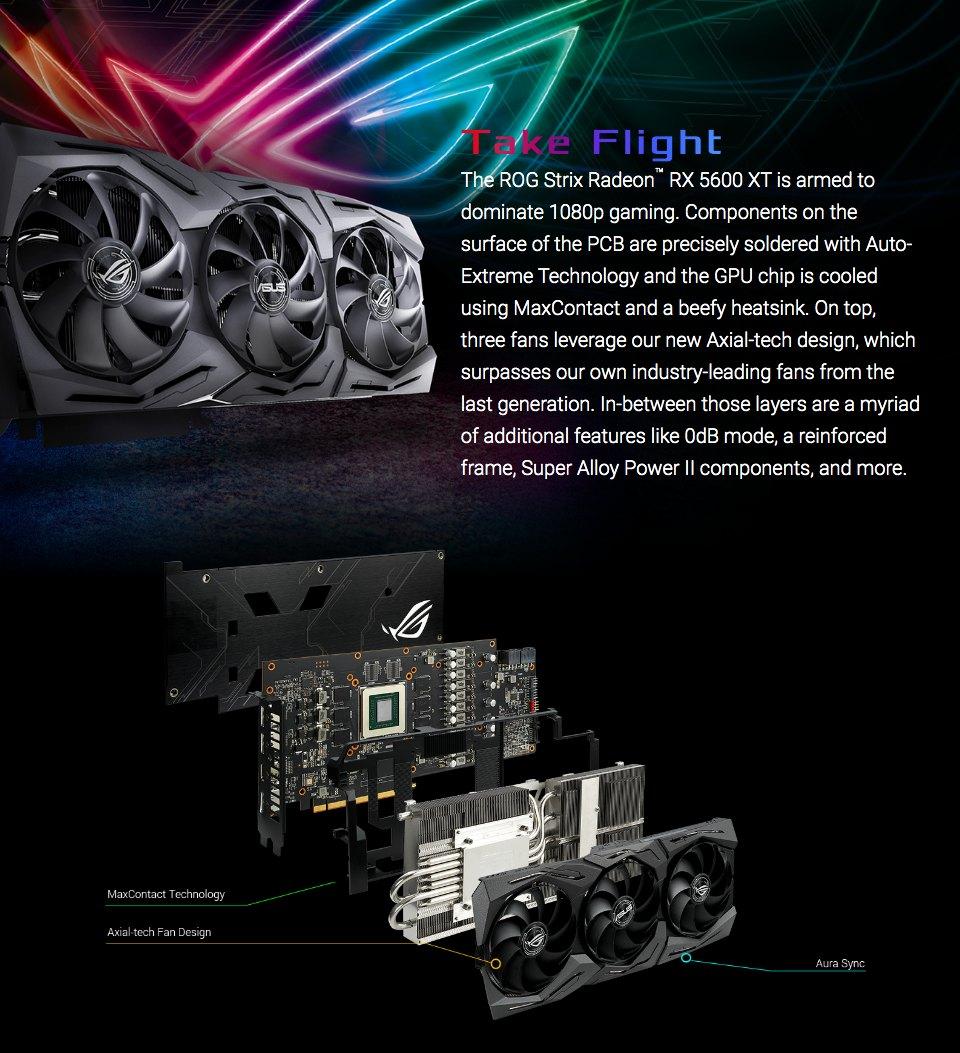 ASUS ROG Strix Radeon RX 5600 XT OC 6GB features