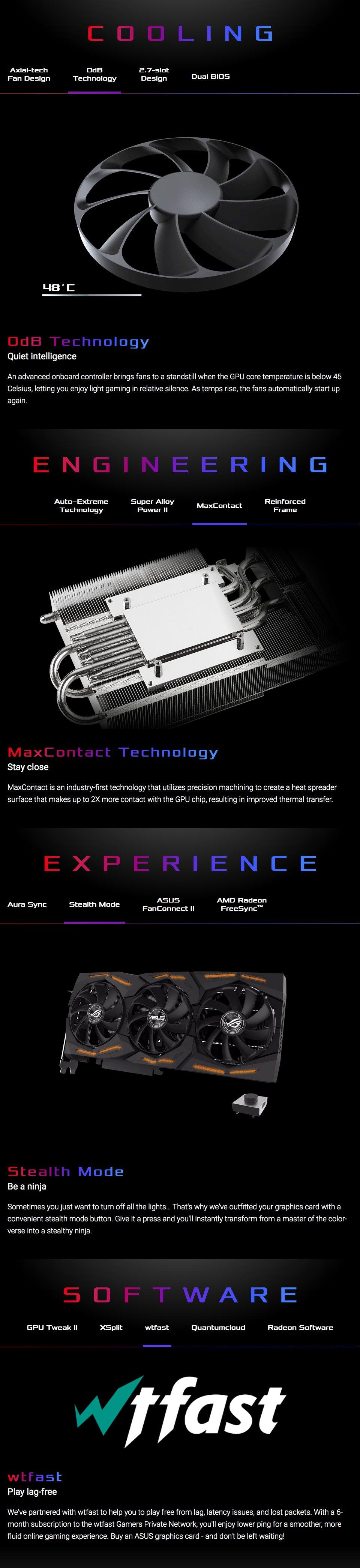 ASUS ROG Strix Radeon RX 5600 XT OC 6GB features 4