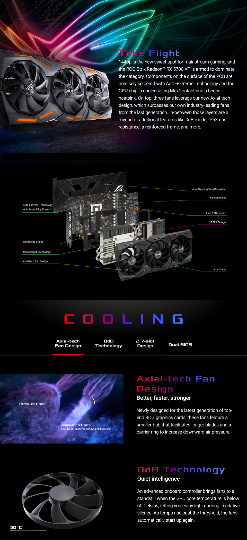 ASUS ROG Strix Radeon RX 5700 XT OC 8GB [ROG-STRIX-RX5700XT-O8G ...