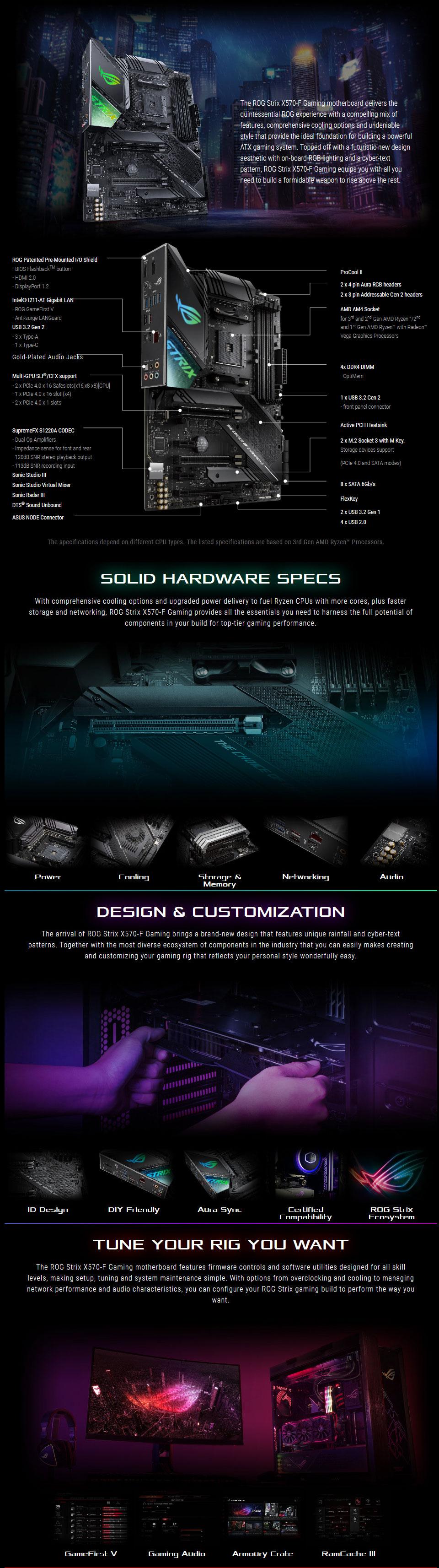 לוח אם ASUS ROG Strix X570-F Gaming