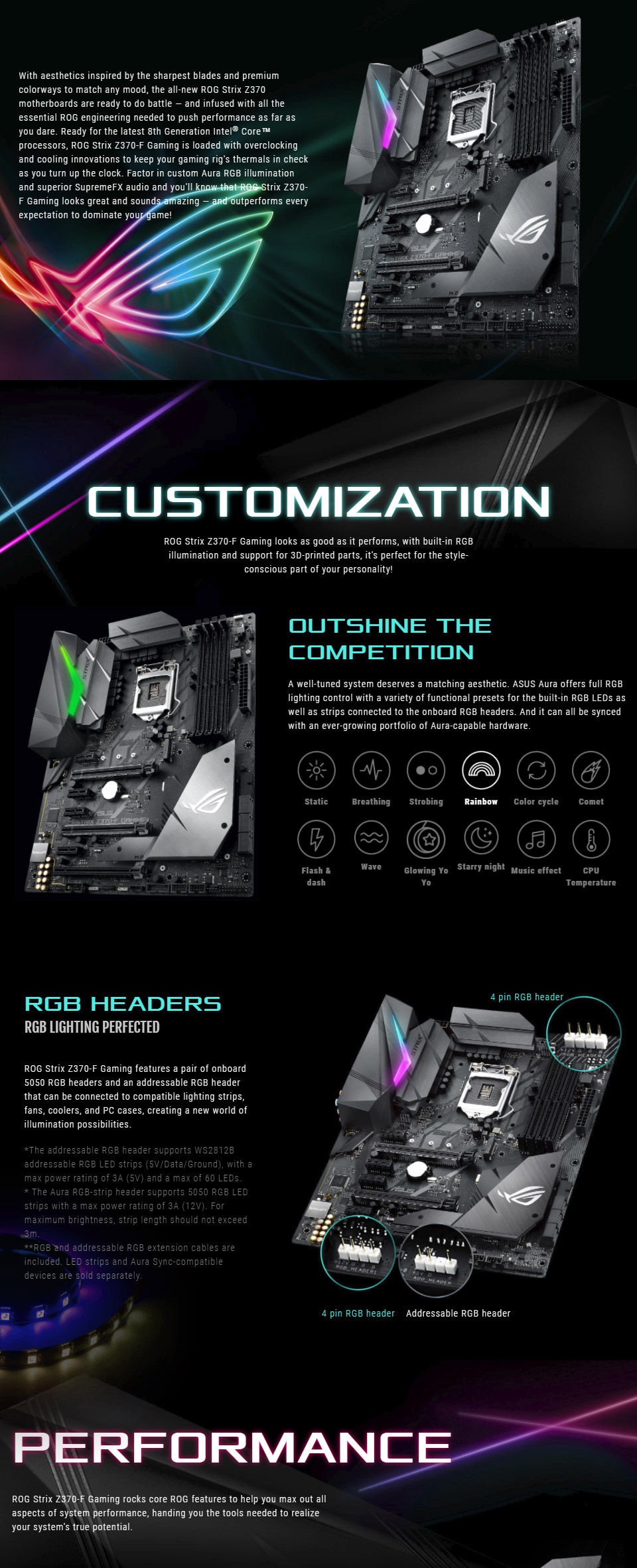 Asus ROG STRIX Z370 F GAMING Coffee Lake LGA1151 Motherboard | PrestoMall -  Motherboards