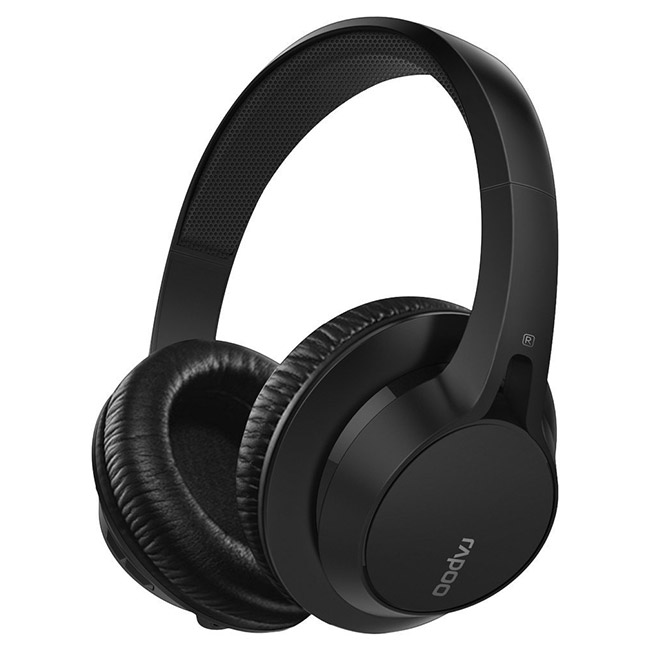 Rapoo S200 Bluetooth Stereo Headset Black [RP-S200-BK] : PC Case Gear
